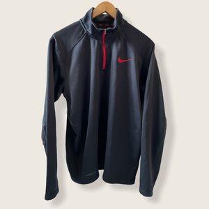Black Therma-Fit Nike Pullover Zip-up Sweatshirt